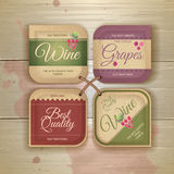 Set of wine vintage labels Royalty Free Stock Images