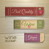 Set of wine vintage labels Stock Photography