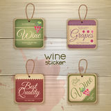 Set of wine vintage labels Stock Photos