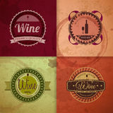 Set of wine vintage labels Royalty Free Stock Photos