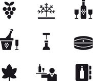 Set of wine and winery web icons Stock Photos