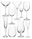 Set of wineglasses isolated on white Stock Image