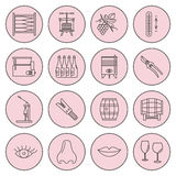Set of winemaking, wine tasting icons Stock Image