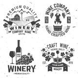 Set of winer company badge, sign or label. Vector illustration. Stock Image