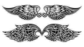 Set of wings royalty free illustration