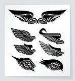 Set of wings Royalty Free Stock Images