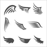 Set of Wings. Wings. Set of design elements. Vector illustration Royalty Free Stock Images