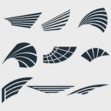 Set of Wings. Wings. Set of design elements. Vector illustration Stock Image