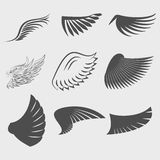 Set of Wings. Wings. Set of design elements. Vector illustration Royalty Free Stock Photo