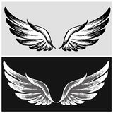 Set Wings,hand drawing Stock Photos
