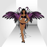Set Wings,hand drawing Royalty Free Stock Images