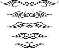 Set of wings tribal tattoo Stock Photo