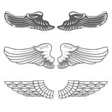 Set of wings  on white Royalty Free Stock Photo
