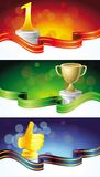 Set with winner banners Royalty Free Stock Images