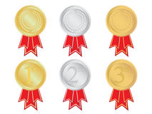 Set of winning medals Stock Image