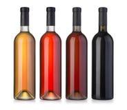 Set wino butelka Fotografia Stock