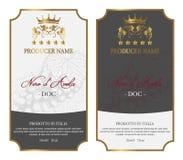 Set wino etykietki Pięć gwiazdy ilustracji
