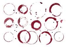 Set Wino plamy Obrazy Royalty Free