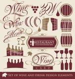 Set wino projekta elementy. Zdjęcia Stock