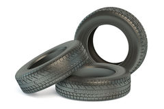 Set of winter automotive tire Royalty Free Stock Photography
