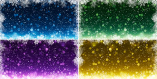 Set of winter backgrounds Royalty Free Stock Photo