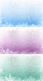 Set of winter backgrounds Stock Images