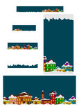 Set of winter banners Stock Image