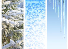 Set of winter banners Royalty Free Stock Photos