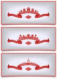 Set of winter banners with holidays design Stock Images