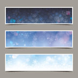 Set of winter banners Royalty Free Stock Photo