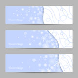 Set of 3 winter banners Royalty Free Stock Photos