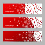 Set of 3 winter banners Royalty Free Stock Image