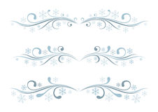 Set of winter borders Royalty Free Stock Images