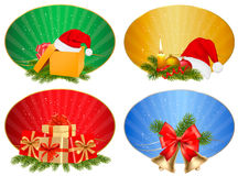 Set of winter christmas backgrounds. Vector Royalty Free Stock Image