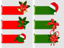 Set of winter christmas banners. Vector illustration Royalty Free Stock Photography