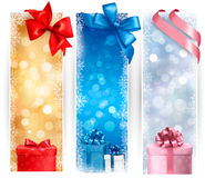 Set of winter christmas banners Royalty Free Stock Photography
