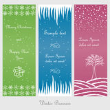 Set of winter and christmas banners Stock Images
