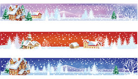 Set of winter christmas banners Stock Images