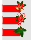 Set of winter christmas banners. Vector Royalty Free Stock Images