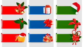 Set of winter christmas banners. Vector Stock Images