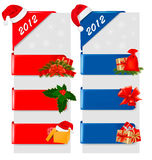 Set of winter christmas banners. Vector. Illustration Stock Image