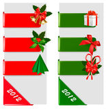 Set of winter christmas banners. Vector. Illustration Royalty Free Stock Photo