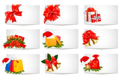 Set of winter christmas banners. Vector Royalty Free Stock Photos