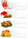 Set of winter christmas banners. Stock Photos