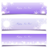Set of winter christmas banners stock image