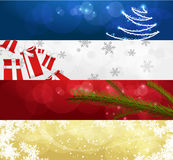 Set of winter christmas banners vol. 01. 4 different horizontal banners with christmas thematics Stock Photos