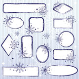 Set of winter frames Stock Photos