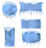 Set of winter frames Stock Images