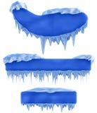 Set of winter frames vector illustration