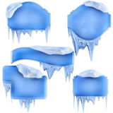 Set of winter frames Royalty Free Stock Image